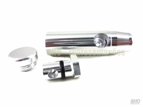 dosador bullet de alumínio para rapé, energéticos e sal.