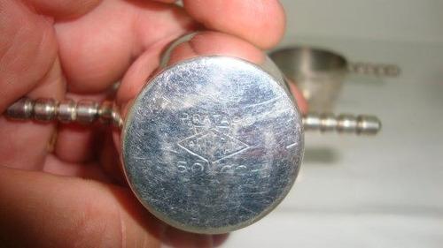 dosador de bebida banhado a prata ( par)