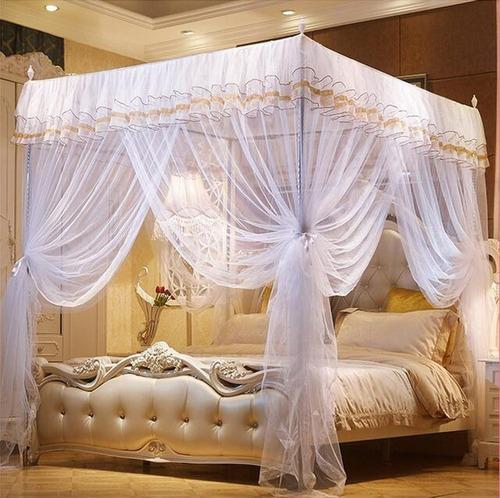 dosel de red para mosquitos para cama  blanco nattey ks