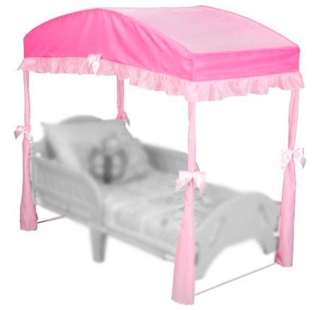 dosel pabelln toldo para cama infantil toddler rosa