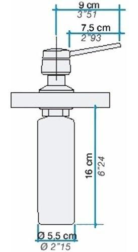 dosificador de jabón liquido johnson apido acero pulido