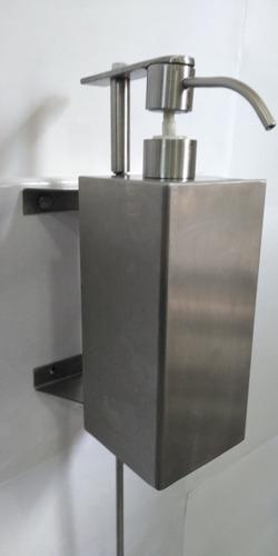 dosificador de liquidos de pedal 100% acero inoxidable