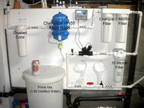dosificador de químicos líquidos cloro, fertilizantes etc.