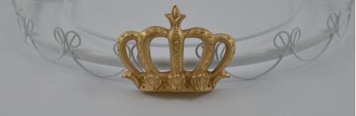 dossel coroa grande luxo rei príncipe imperial berço p/ véu