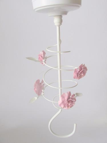 dossel gancho espacial flor teto menina bebê princesa
