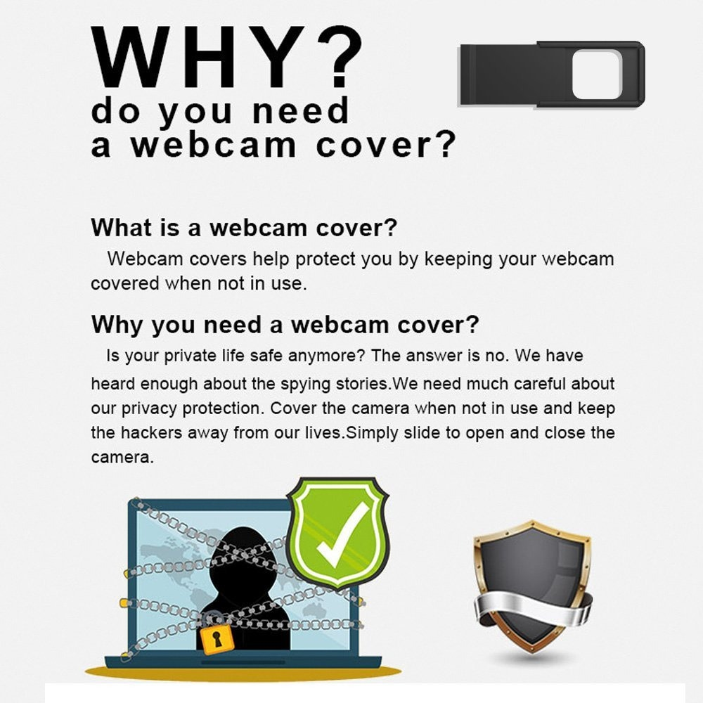 WebCamera Cover Funda para Webcam Plata