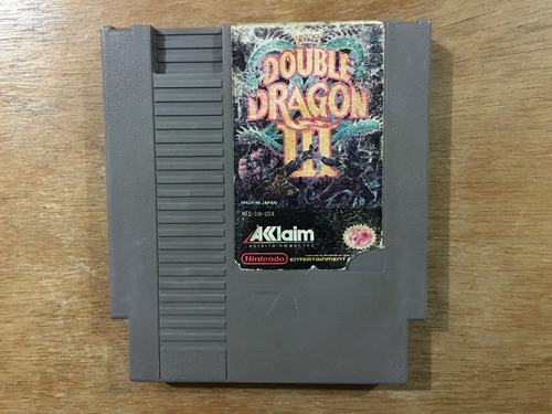 double dragon 3 para nintendo / nes en buen estado