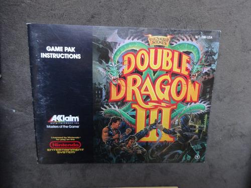 double dragon iii 3 original americana e completa,confira!!