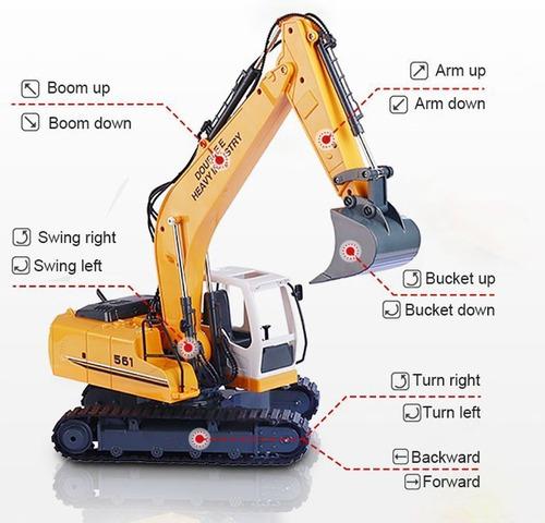 doublee rc excavadora tractor camión de juguetevehículos