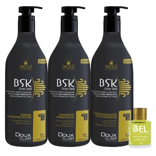 doux clair progressiva bsk 3x1 + finalizador óleo argan ojon
