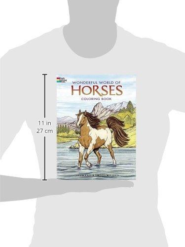 Dover Publications Wonderful World Of Horses Libro De Color
