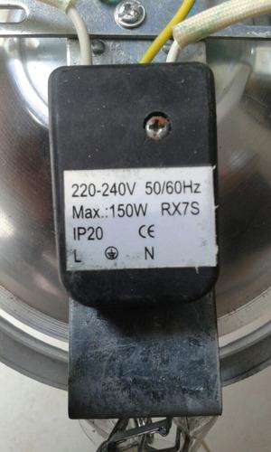 down light 6  metal halide con arrancador de 150w
