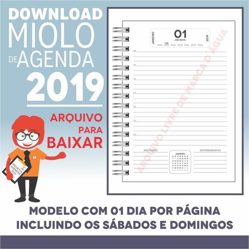 download miolo agenda 2019 | pdf e corel draw x7 | a5p1m1