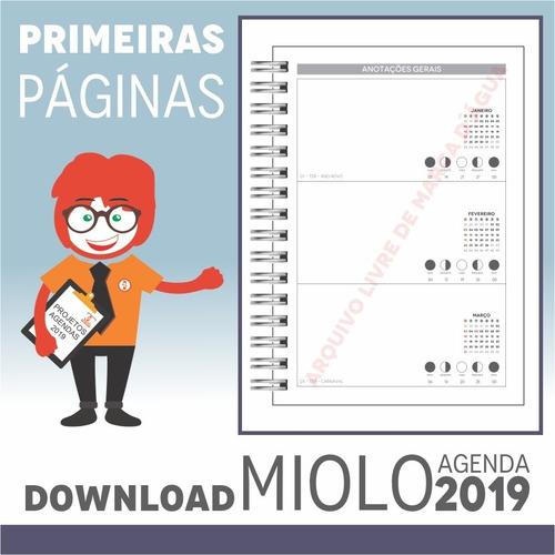 download miolo agenda 2019 | pdf e corel draw x7 | a5p1m2