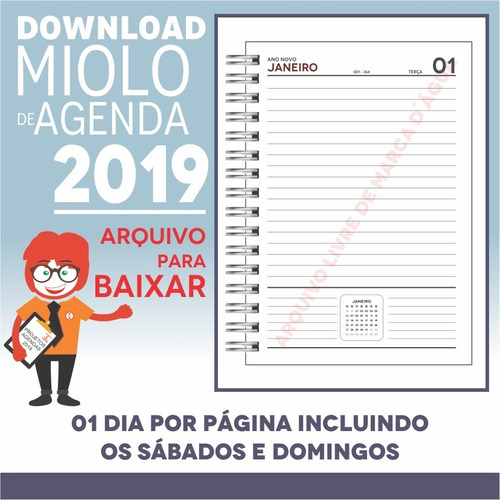 download miolo agenda 2019 | pdf e corel draw x7 | a5p1m7