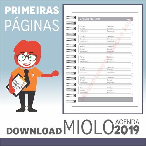 download miolo agenda 2019 | pdf e corel draw x7 | a5p2m2