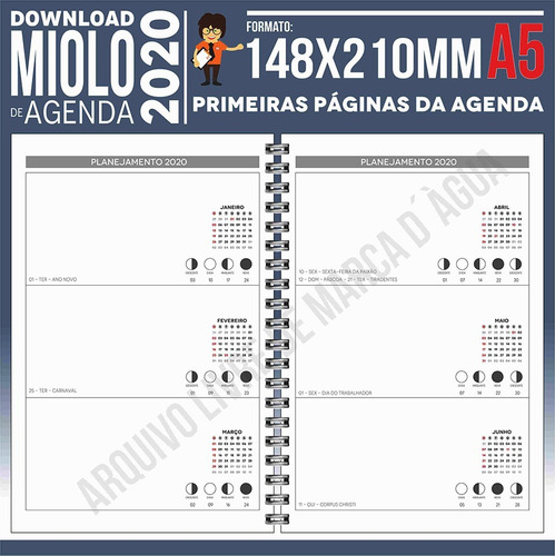 download miolo agenda 2020 | pdf e corel draw x7 | a5p12m1