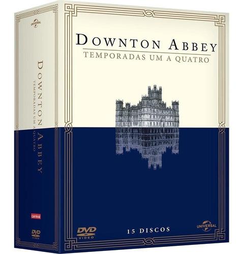 downton abbey 1ª a 4ª temporadas - box com 15 dvds - novo