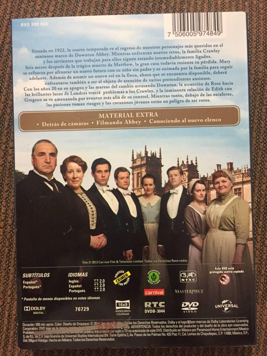 Downton Abbey Cuarta Temporada Dvd Maggie Smith Nuevo - $ 270.00 en ...