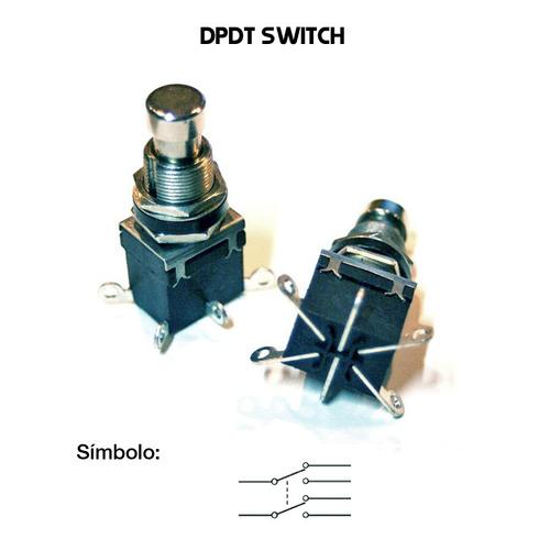 dpdt interruptor switch boton 6 pines pedales efectos guitar
