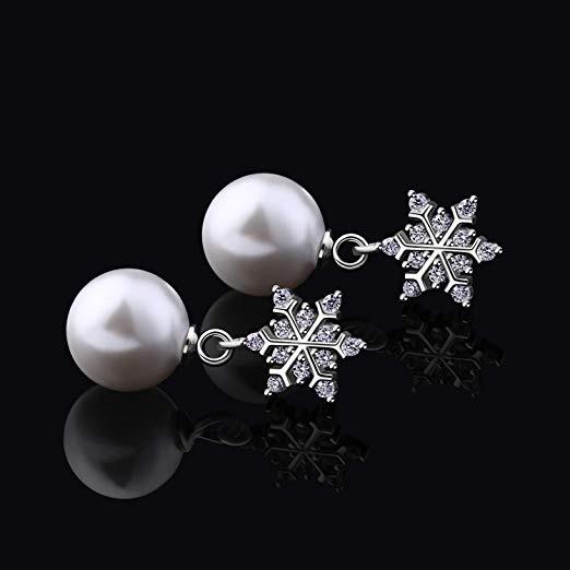 947026b9ab73 D.perlla Mujer Aros Perla Plata De Ley 925   copos De -   3.019