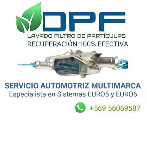dpf o fap limpieza, recuperación o mantenimiento
