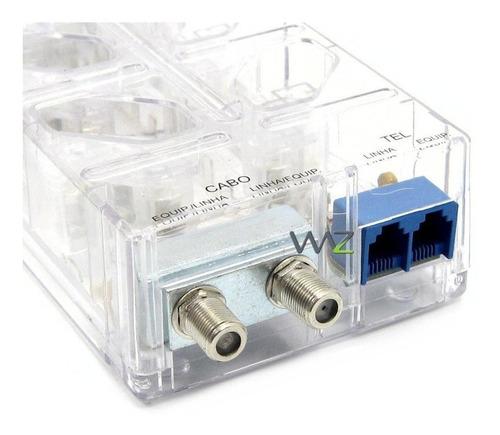 dps -  8 tomadas - clamper multi proteção - transparente - 9