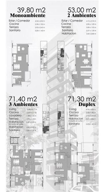 dpto 2 amb pozo en edificio de alta cat. 30%y ctas
