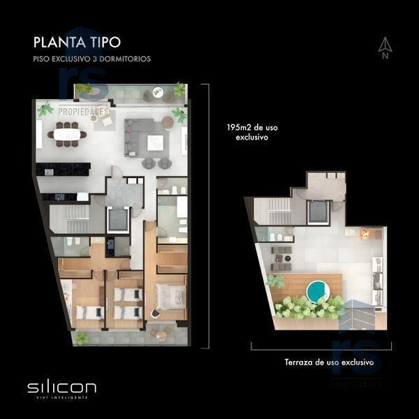 dpto de 3 dormitorios   terraza exclusiva en un gran proyecto con avanzada tecnología !