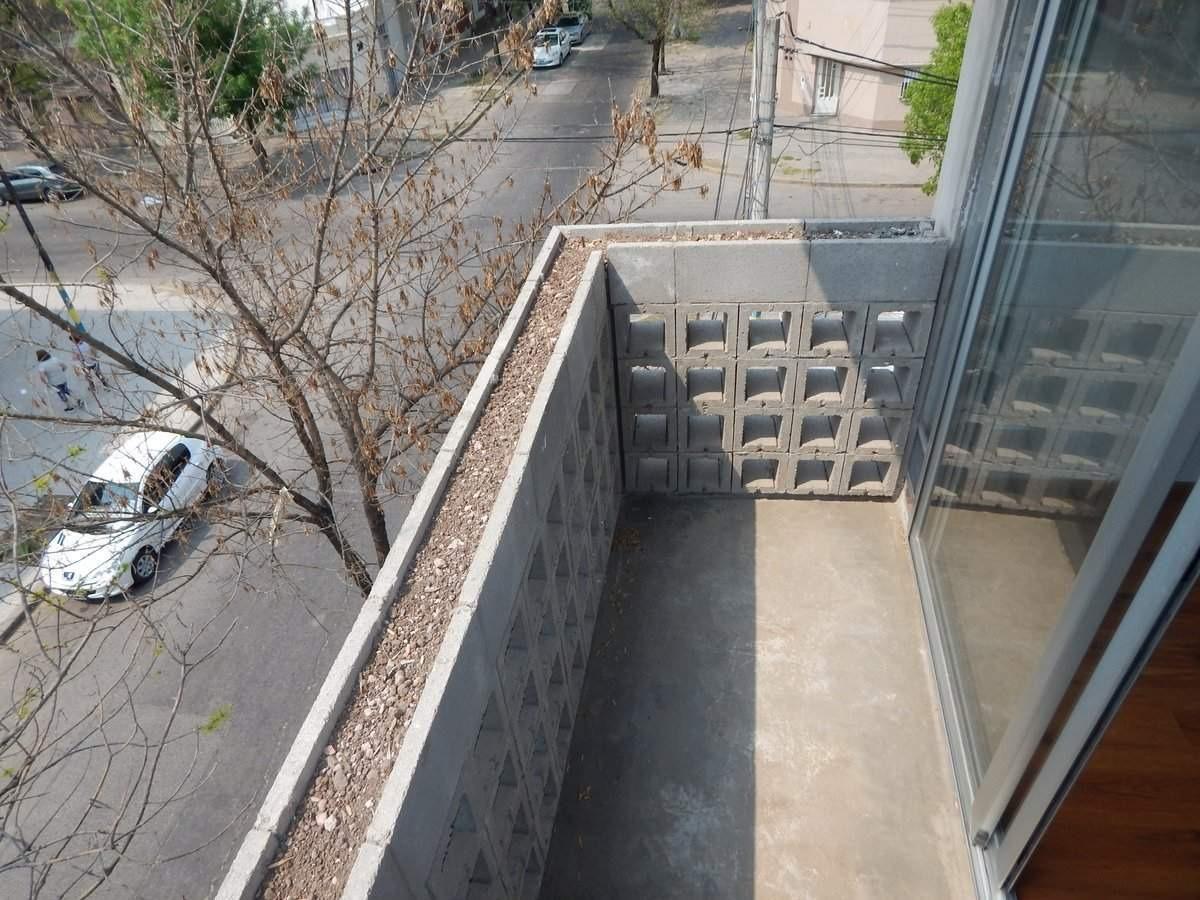 dpto un domitorio estrenar. rioja 4000. balcon y terraza exclusiva.