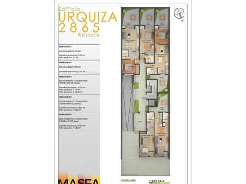 dptos. 1 dormitorio  terraza exclusiva 35 m2 + parrillero(ascensor)  ventilación cruzada urquiza 2800