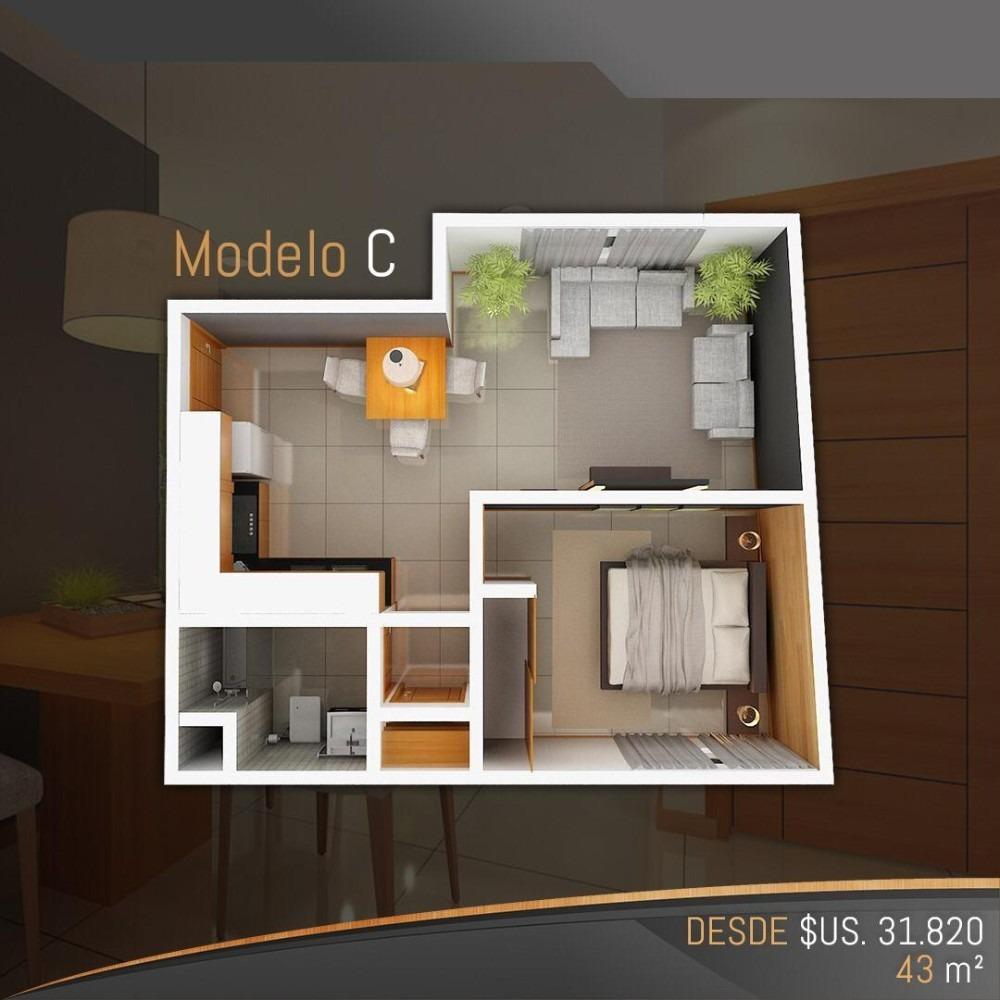 dptos de 1 dormitorio en pre-venta en condominio alemana