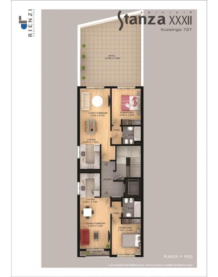 dptos. de calidad semipisos con balcón de 1 dormitorio ituzaingo 700