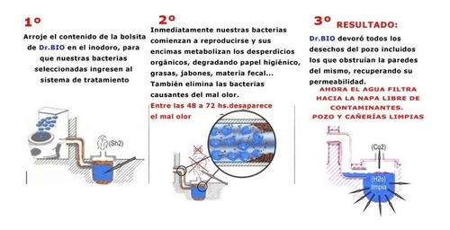 dr bio camaras septicas pozo ciego mantenimiento x 20 sobres