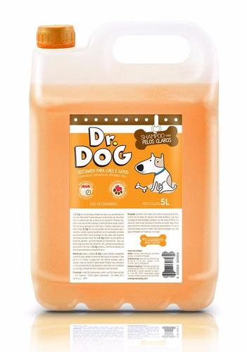dr dog shampoo branqueador cães e gato 5l ck one - economize