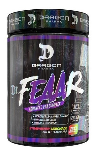 dr. feaar 30 doses - dragon pharma - bcaa em pó powder viper