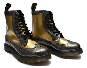 c3a66e124e Dr Martens Harrie Gold Plateado Dorado Botas Fabiuluzz