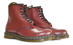 Cherry Martens Unisex Smooth 1460 Fabiuluzz Dr Red byvIfY67g