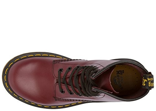 dr. martens women 1460 8-eye charol boots, cherry red rouge