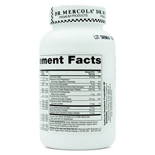 dr. mercola multivitamínico niños vitaminas a, c, d, e, b6