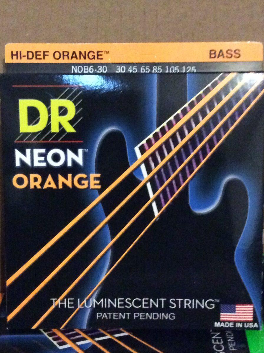 /Juego de cuerdas para bajo rosa /125/ Dr Strings Neon 45/
