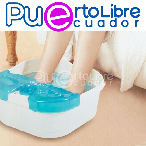 dr scholls spa pies + masaje + b u r b u j a + calienta agua