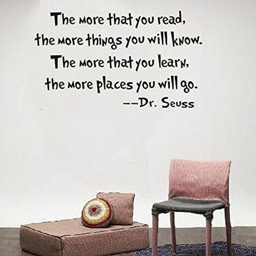 dr seuss wall decals the more you read sayings vinyl m...