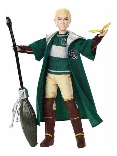 draco malfoy muñeca uniforme quidditch  con snitch