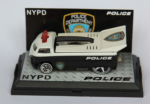 drag truck personalizada new york police hot wheels (baixou)