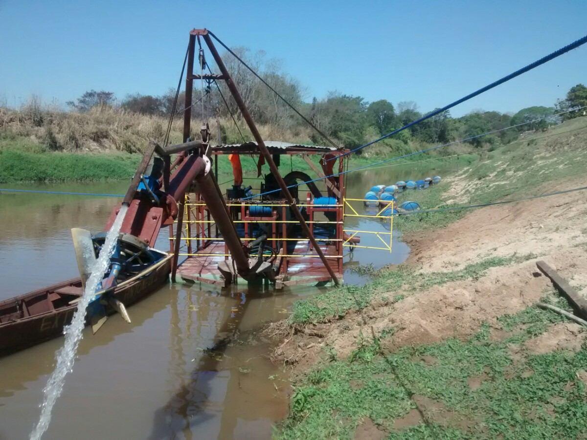 Equipamento de dragagem do rio pequeno hidráulico da sução