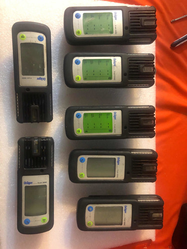 drager x-am 2000 lote 7 piezas detector de gases sin carga