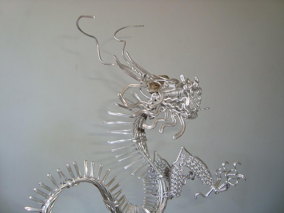 Armarios Para Jardin Ikea ~ Drag u00e3o Artesanal Com Arame De Alumínio R$ 160,00 em Mercado Livre
