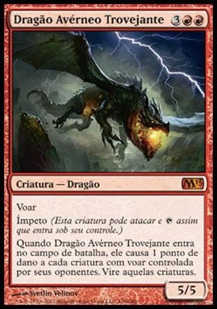 dragão avérneo trovejante / thundermaw hellkite - magic 2013