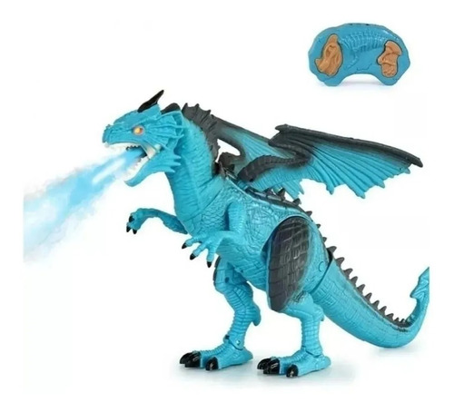 dragão gelo dinossauro controle remoto solta fumaça thorn